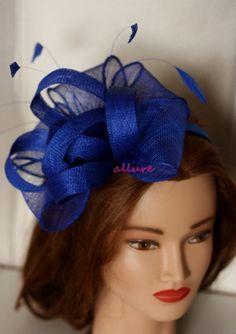 8234bd22adf Items similar to Royal Blue wedding fascinator