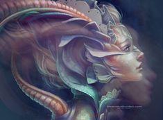 Digital painting by Jennifer Healy - ego-alterego.com