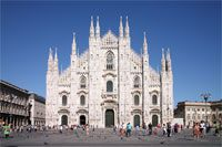 """The Duomo di Milan or """"The Duomo"""" as the people in Milan call it.  Intimidating but amazing.  So much detail and history throughout this Gothic cathedral, which is one of the world's largest churches."""
