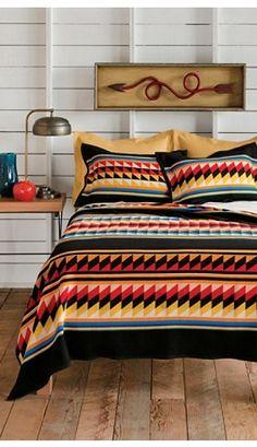 Suwanee Stripe Blanket Collection - Pendleton Woolen Mills Hand Embroidered