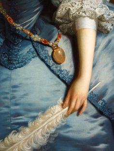 """ Lady Oxenden - Thomas Hudson. Detail. """