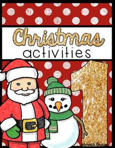 Christmas Activities, These Christmas activities are your survival kit for the weeks leading up to winter break! 18 fun, no-prep, Common Core aligned Christmas activities.  Hanukkah and Kwanzaa are featured along with Christmas.Contents:*Cover - fun to color*Gingerbread for Sale - opinion writing*Which is Bigger? - comparing numbers*Hanukkah Happenings - parts of speech sort*Santa's Helper - count by 5s *Wrap It Up - procedural/sequence writing*Stackin' Up Numbers - Number…