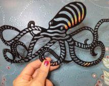Papercut Octopus - Sea / Ocean theme paper art