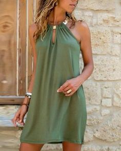 Casual Dresses, Short Dresses, Maxi Dresses, Party Dresses, Green Dress Casual, Sleeveless Summer Dresses, Dresses For Big Bust, Short Outfits, Mode Hippie