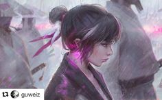 #wooolikes @guweiz  Anego I think the title makes more sense with this full version  #rain #drawing #boss #likes #repost #regram #comic #wooomic #illustration #illustrationartists #colour