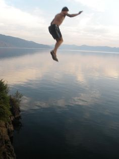 Flying...Probably the closest I've ever gotten...Picture taken at Lake Pend Oreille, Idaho...