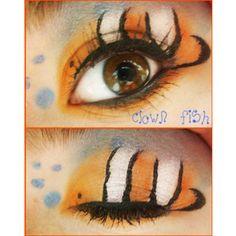 Animal Print Makeup:Clown Fish by on DeviantArt Makeup Clown, Fish Makeup, Mermaid Makeup, Costume Makeup, Body Makeup, Costume Halloween, Halloween Make Up, Halloween 2017, Disney Inspired Makeup