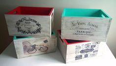 Cajones Vintage De Madera - $ 470,00 en Mercado Libre