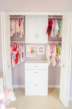 Baby Closet Organization - #nursery #organization