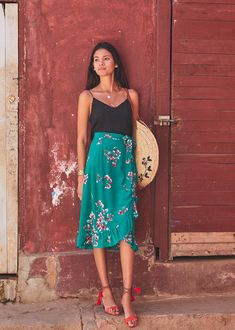 f8f13a1df21 Sézane - Top Athénée Tropical Outfit