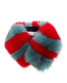 TU ES MON TRESOR | Striped Fox Fur Collar