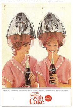 Coca Cola  - reklamy z lat 50 - 70