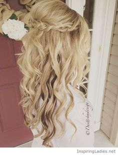 Sweet blonde hair for prom | Inspiring Ladies