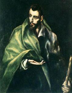 "El Greco: ""Apostle St. James the Greater"",1606.(Museo del Greco,Toldeo,Spain.) http://museodelgreco.mcu.es/"