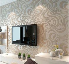 décoration murale salon en papier peint en relief à motifs cappuchino
