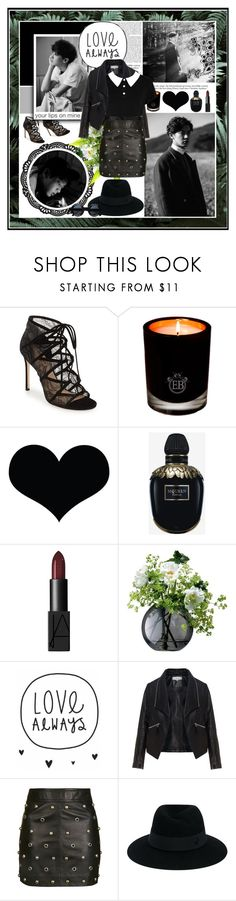 """""""Chanyeol [ EXO ] ✿ Your Lips On Mine - Love Always ✿"""" by julia-ngo ❤ liked on Polyvore featuring Pour La Victoire, EB Florals, Brika, Alexander McQueen, NARS Cosmetics, Warehouse, LSA International, Zizzi, Topshop and Killstar"""