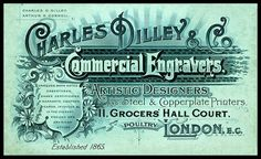 Typography is cramped and busy but the focus is on 'Commercial Engravers'. Vintage Typography, Typography Letters, Typography Design, Logo Design, Vintage Packaging, Vintage Labels, Vintage Ephemera, Printable Vintage, Vintage Type