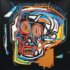 TITLE: Skull  ARTIST: Jean-Michel Basquiat (American, 1960–1988)  WORK DATE:2002  CATEGORY:Prints  MATERIALS:Screenprint on board  EDITION/SET OF:85  MARKINGS: Signed and numbered by foundation  SIZE:h: 40 x w: 40 in / h: 101.6 x w: 101.6 cm