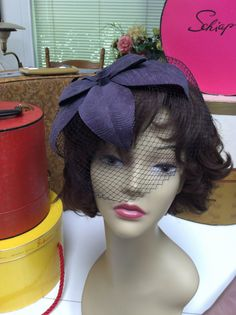 Blue Fascinator whimsy large flower petal hat by ScarlettsFancies, $20.00