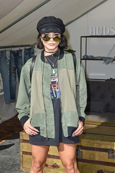 Vanessa Hudgens attends The Hudson Jeans FYF Fest Style Lounge at Exposition Park - July 23rd