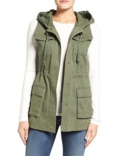 hooded-military-vest by matty-m. #gorgeous #fashionable #newtrend #mindblowing #shoptagr