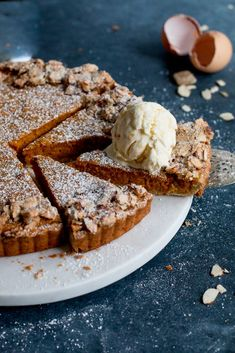 Carrot, Ginger & White Chocolate Tart with Whisky Ginger Ice Cream