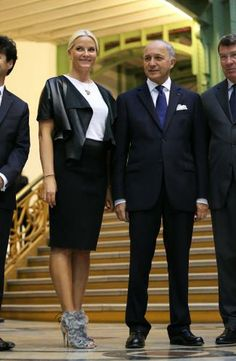 Crown Princess Mette- Marit attends the inauguration of the Revelations at The Grand Palais in Paris