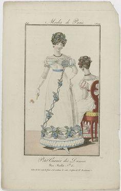 Petit Courrier des Dames, 1823, No. 104 : Robe de bal..., Jean-Charles-Michel Barreau, Dupré (uitgever), 1823
