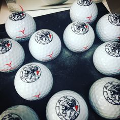 Our printer loves Feyenoord. So this print job took him a bit longer than normal. #customgolfballs #golfballs #ajax #feyenoord #golf #soccer