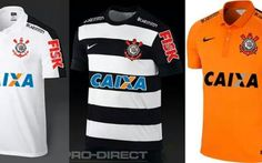 Possíveis modelos dos uniformes do Corinthians para o Brasileirão de 2015