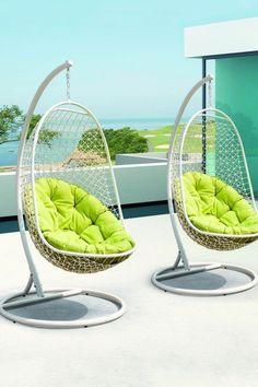 fauteuil suspendu moderne pour la piscine et la terrasse