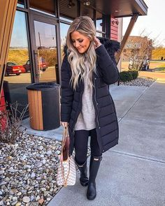 New York Winter Outfit, Cold Weather Outfits, Casual Fall Outfits, Winter Fashion Outfits, Fall Winter Outfits, Winter Dresses, Autumn Winter Fashion, Cold Weather Fashion, Fashionista Trends