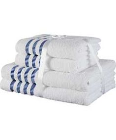 Heart of House 4 Piece Towel Bale Set - Blue and White.