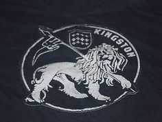 KINGSTON JAMAICA T SHIRT Adult XL Lion with Crown & Flag Stitched on Image