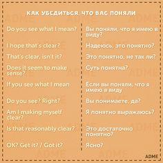 50 фраз на английском для удачного выступления.  50 phrases to help English-speakers get by in Russian.