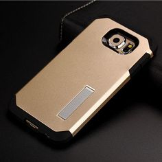 Luxury Tough Slim Armor Case For Samsung Galaxy S6 G9200 G920 G925F Mobile Phone Bag Cases Back Cover With Stand Function