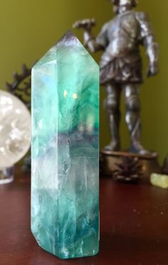 A personal favorite from my Etsy shop https://www.etsy.com/listing/269866071/glorious-green-fluorite-tower-point