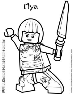 all ninjago coloring pages | Ninjago Nya Coloring Page