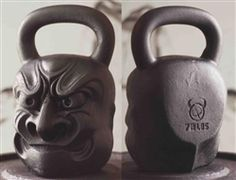 DEMON BELLS!  Yep Kettle Bells modeled after Demons of the world.  These are the BIG BOIs, a Hawaiian Demon.  They are also 72LBS each!  Damn Skippy!