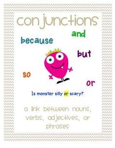 Conjunction Activities FREE