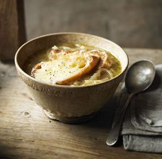 Onion and cider soup