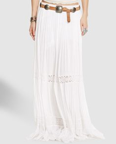 Falda larga de mujer Denim & Supply Ralph Lauren con crochet