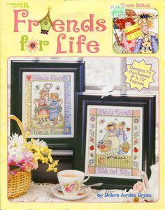 Friends For Life Cross Stitch Leaflet by Debra Jordan Bryan Leisure Arts 3606 by PengyPatterns on Etsy