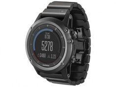 920283935cd Relógio Monitor Cardíaco Garmin Multiesporte Fenix - 3 Saphira Bundle  Resistente à Água