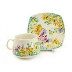 The Flower Collection Cup & Saucer Set,  Regular Price: $24.00 Special Price $18.00. Order here: http://catalog.obitel-minsk.com/handmade-ceramics/ceramic-tableware.html?ceramics_type=553 #christmastime #xmas #giftideas #gift #souvenir #present #ceramic #clay #handmade #teaset #home #tea #warmly #cup #saucer #pottery