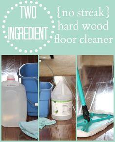 No Streak Hardwood Floor Cleaner {just 2 ingredients you already have ...