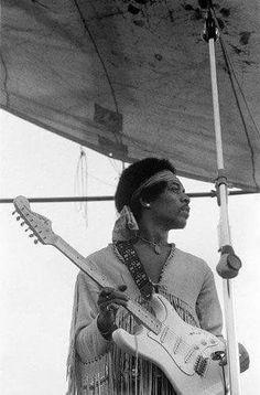 Jimi Hendrix At Woodstock  August 18th 1969 ☮️.