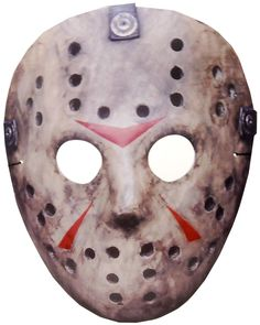 Friday The 13th Cardboard Jason Costume Mask