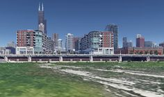 White Sox: Envisioning a New Stadium Concept – The Chicago Dugout White Sox Baseball, Chicago River, Blue Color Schemes, The Outfield, Oakland Athletics, Chicago White Sox, Civil Engineering, Upper Deck, Willis Tower