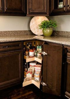 Base Lazy Susan Pull-out Kitchen Base Cabinets, Kitchen Pantry, Kitchen Cart, Thomasville Cabinetry, Kitchen Utilities, Kitchen Storage Solutions, Lazy Susan, Home Kitchens, Liquor Cabinet